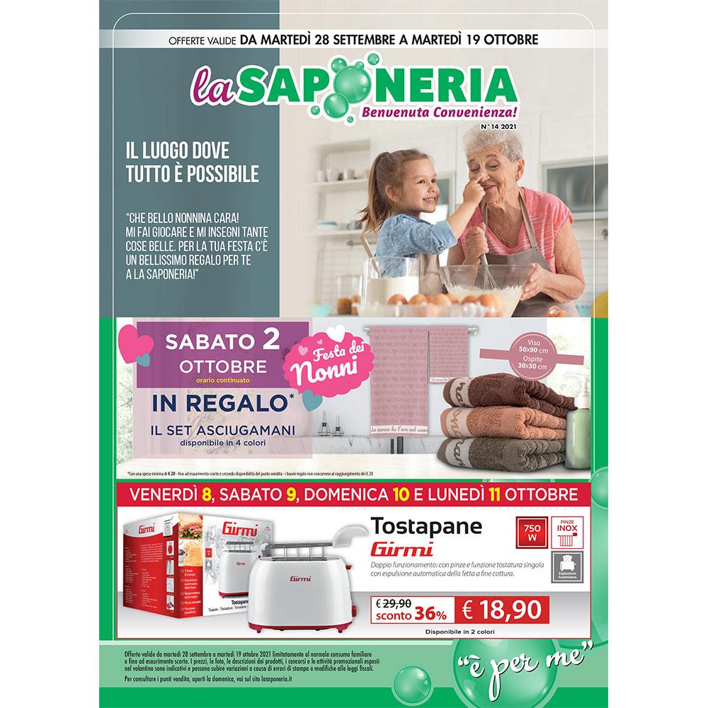 La Saponeria - Offerte valide dal 28 settembre al 19 ottobre 2021